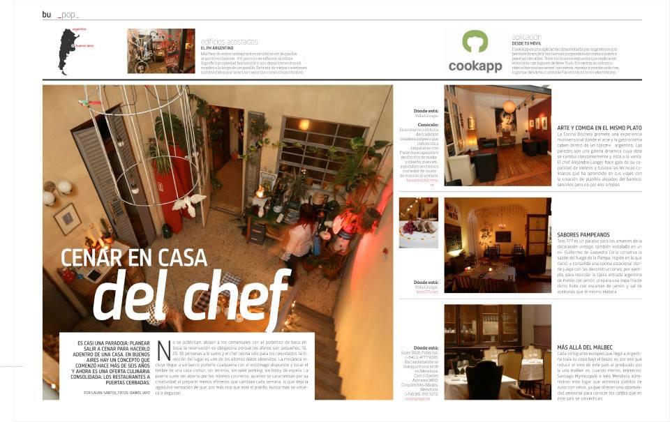 Cenar en casa del Chef